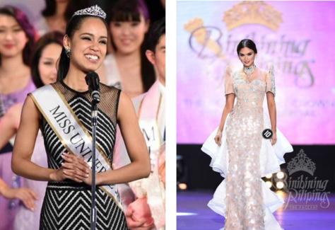 2015 Miss Japan, left, and Miss Philippines