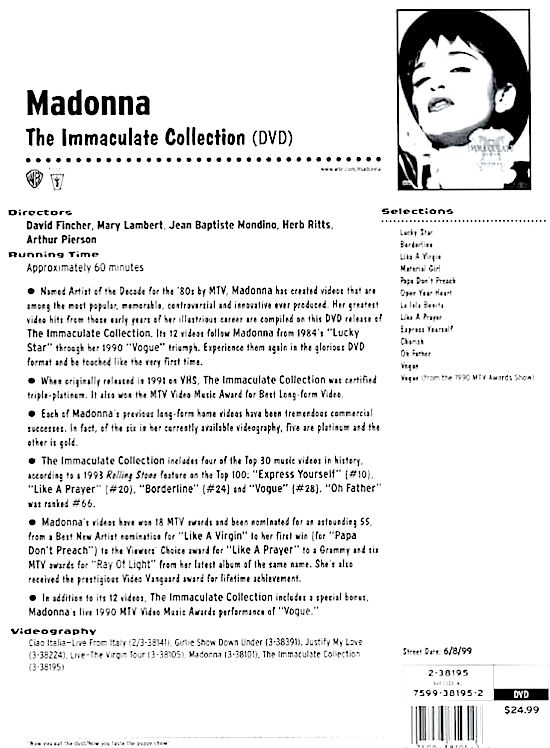 6-8-99-Immaculate_Collection_DVD_release