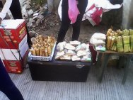 You know that you are more than halfway there at Matina Shrine Hills when you see food and drinks available for sale.