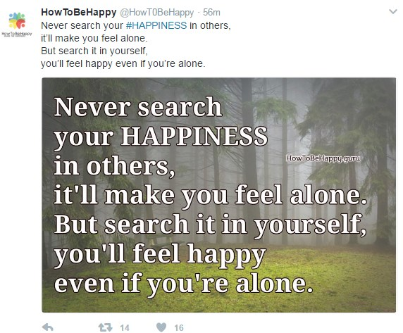happiness alone
